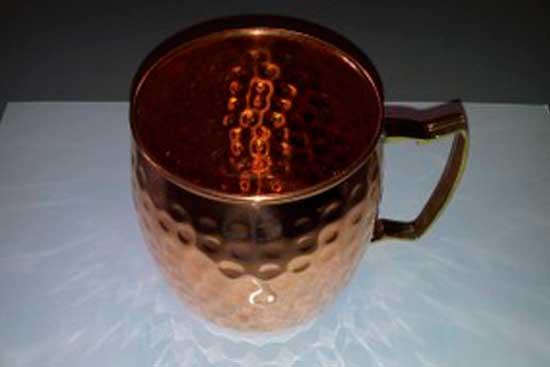 № 2*Чашка медная с латунной ручкой. Цена = 2160 рублей.